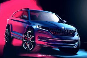 Novi teaser crteži: Škoda Kodiaq RS