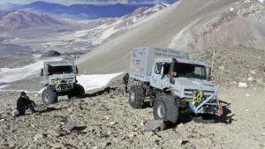 Unimog U 5023 na nadmorskoj visini od 6.694 mnm