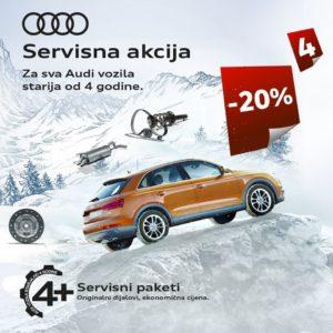 SERVISNA AKCIJA: Za sva Audi vozila starija od 4 godine