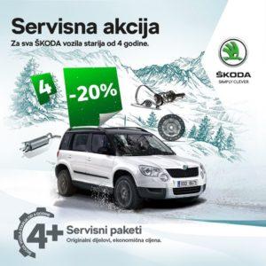 SERVISNA AKCIJA: za sva ŠKODA vozila starija od 4 godine