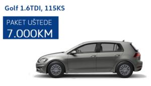 Volkswagen Golf 1.6 TDI 115KS – ušteda od 7.000 KM za odmah isporučive modele