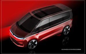 Volkswagen objavio skice T7 Multivana. Premijera već sredinom juna
